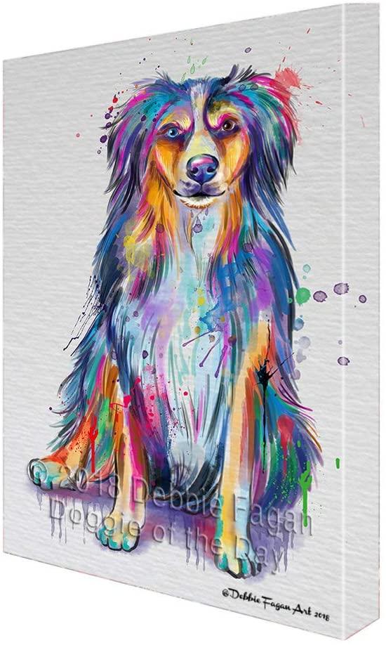 Doggie of the Day Watercolor Australian Shepherd Dog Canvas Print Wall Art Décor CVS136070 (16x20)