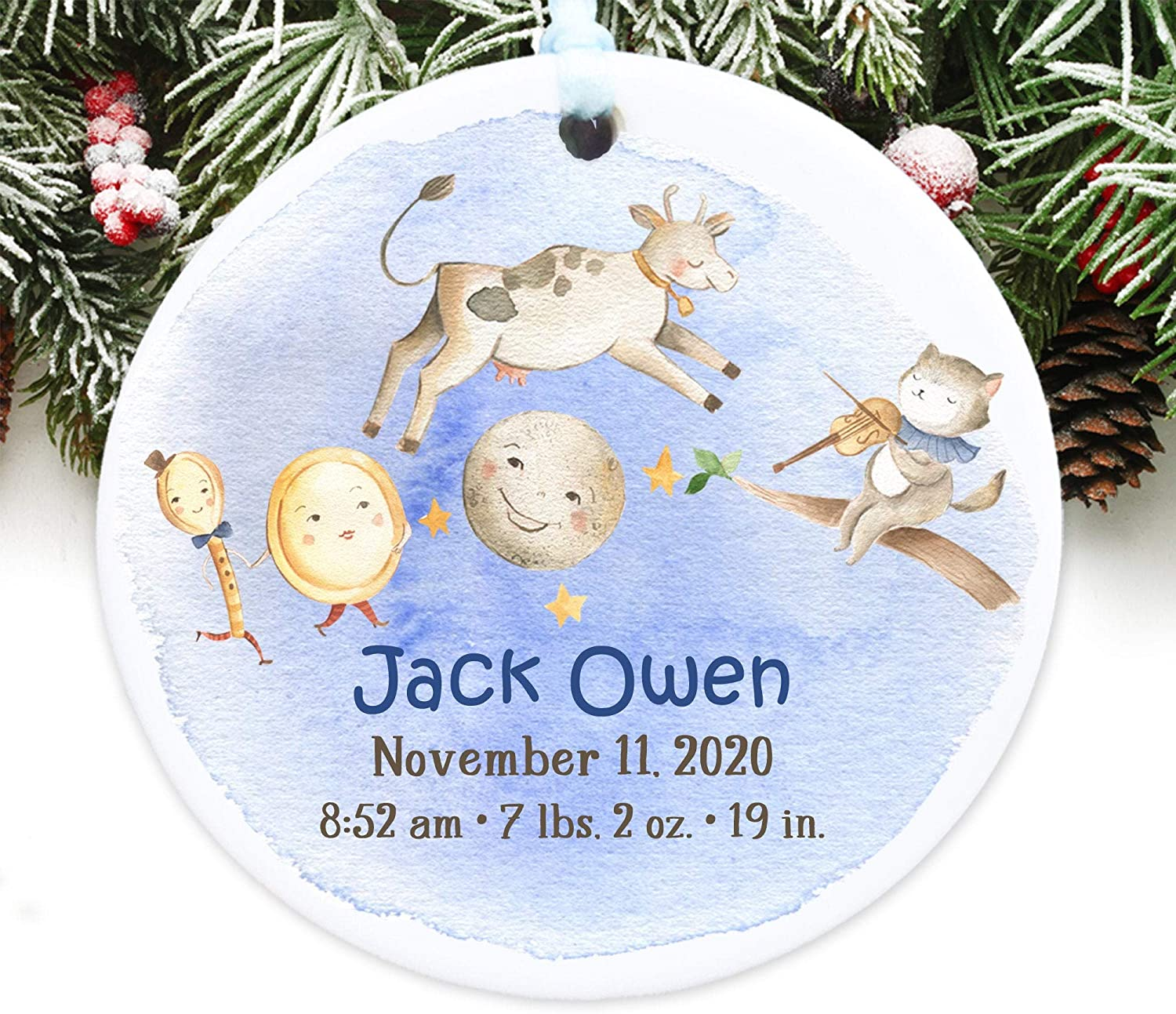 Christmas Ornament Baby's First Christmas Ornament Baby Stats Ornament Personalized with Name and Year 3