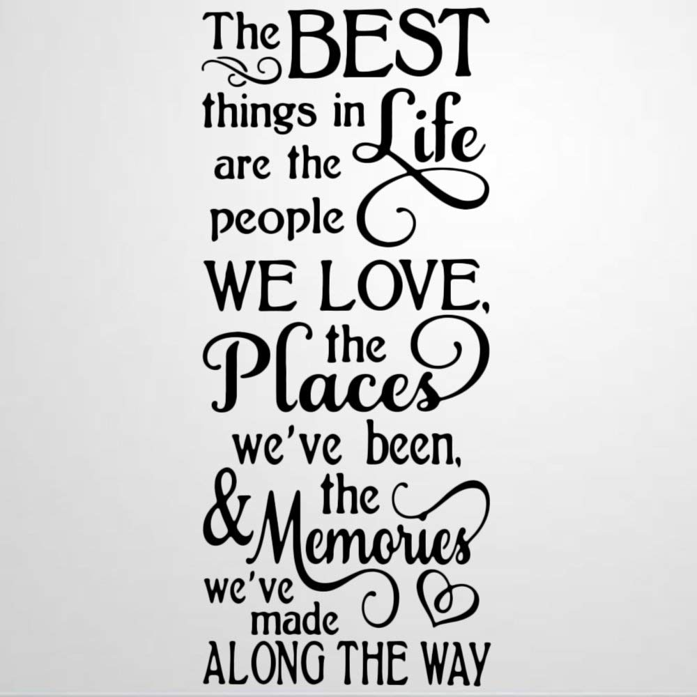 Best Things in Life People We Love Wall Decal Saying,in Loving Memory Wall Sticker Family Room,Wall Art Decor for Boys Room Kids Bedroom Living Room