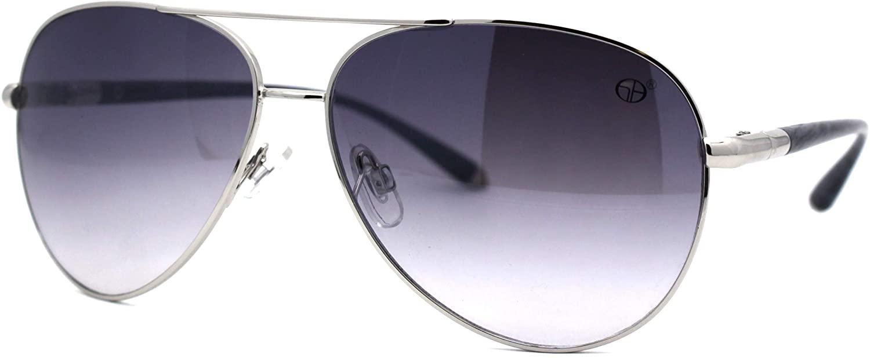 Woodgrain Rod Arm Officer Style Tear Drop Shape Pilots Sunglasses