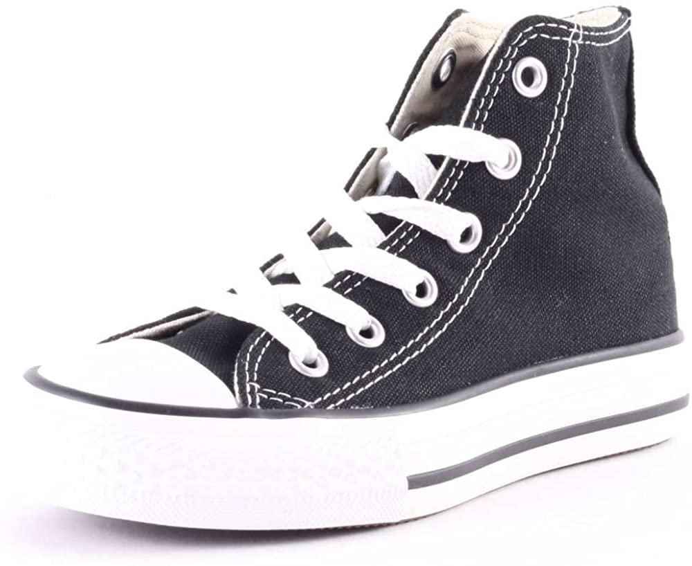 Converse All Star Hi Kids Canvas Trainers Black White Kids 12.5 US