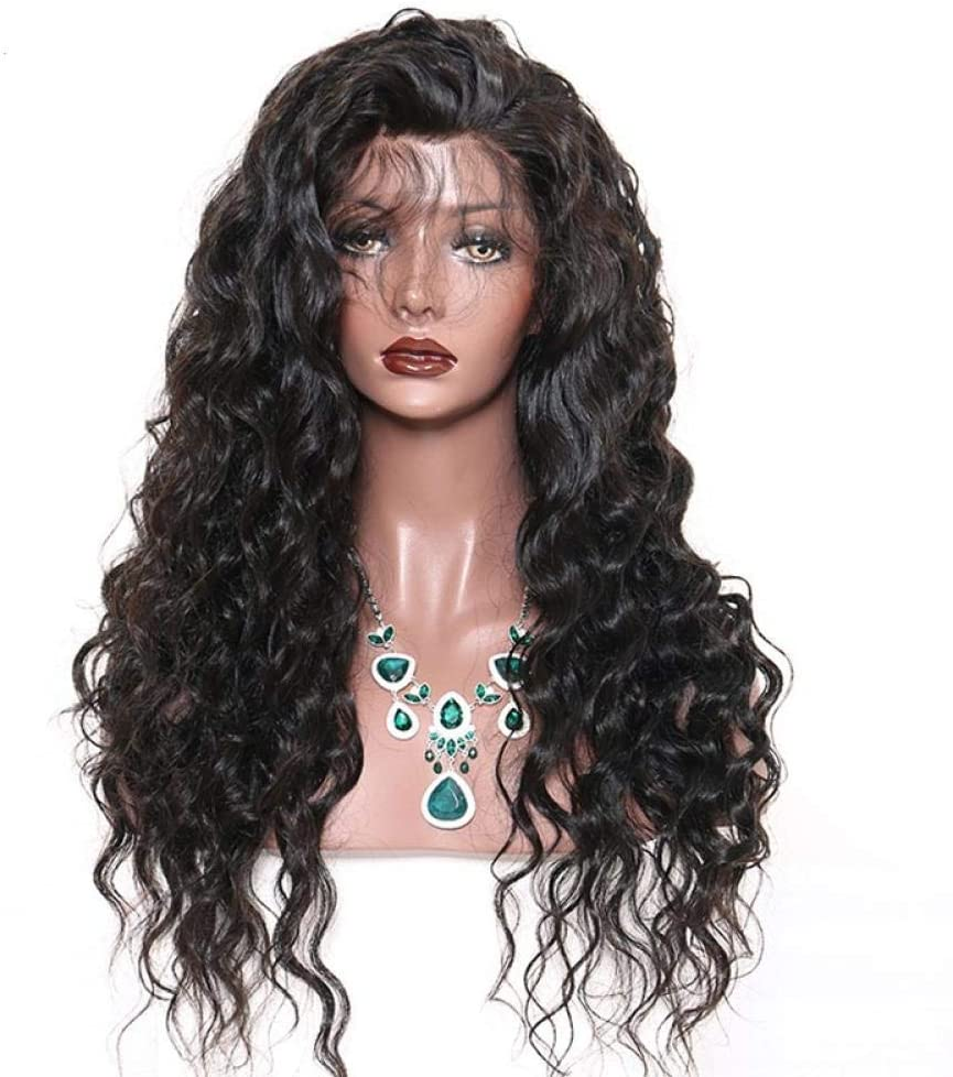 XHCP Wig Lace Frontal%100 Human Hair Wigs for Women Full Head Human Hair Natural Long Silky Straight Wig Headband 26inch Cosplay Wig for Girl,