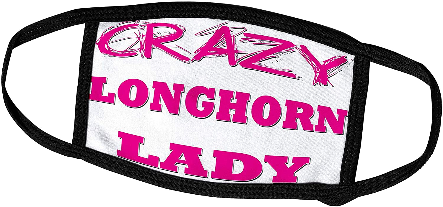 3dRose Crazy Longhorn Lady - Face Covers (fc_175164_3)