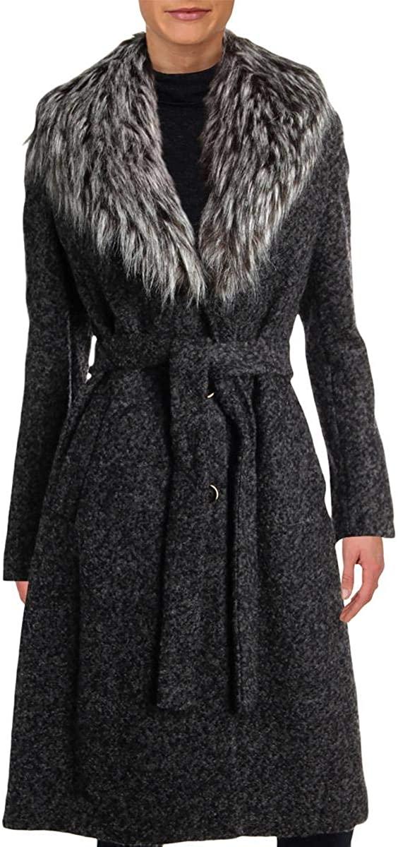 Ivanka Trump Womens Winter Boucle Coat