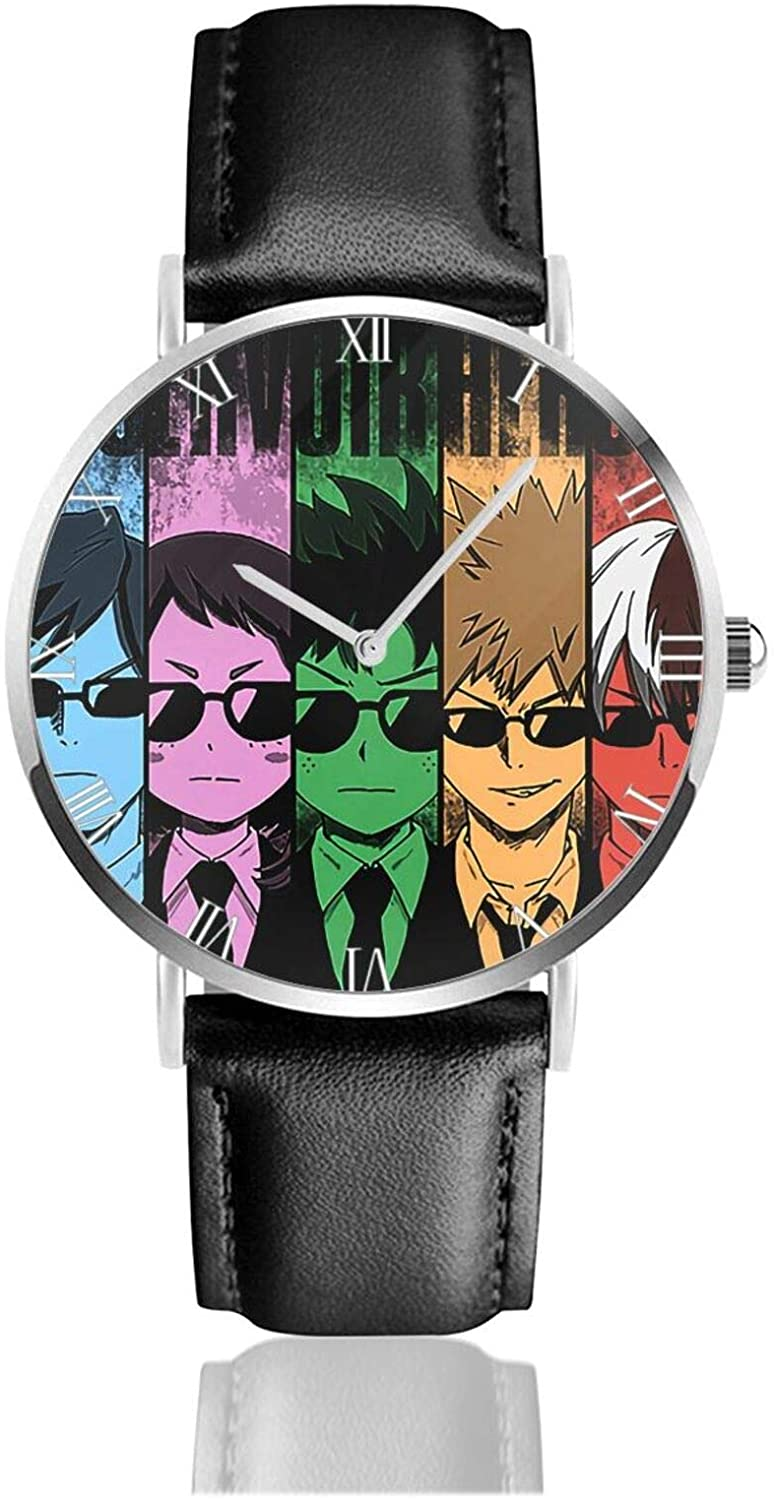 AMBERATKINS My Hero Academia Anime Unisex Watches Ultra-Thin Fashion Watch