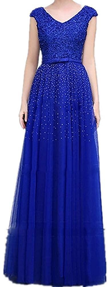CG A-Line/Princess V-Neck Floor-Length Prom Dress with Lace Sashes/Ribbons Beading Bow(s) E460GA21
