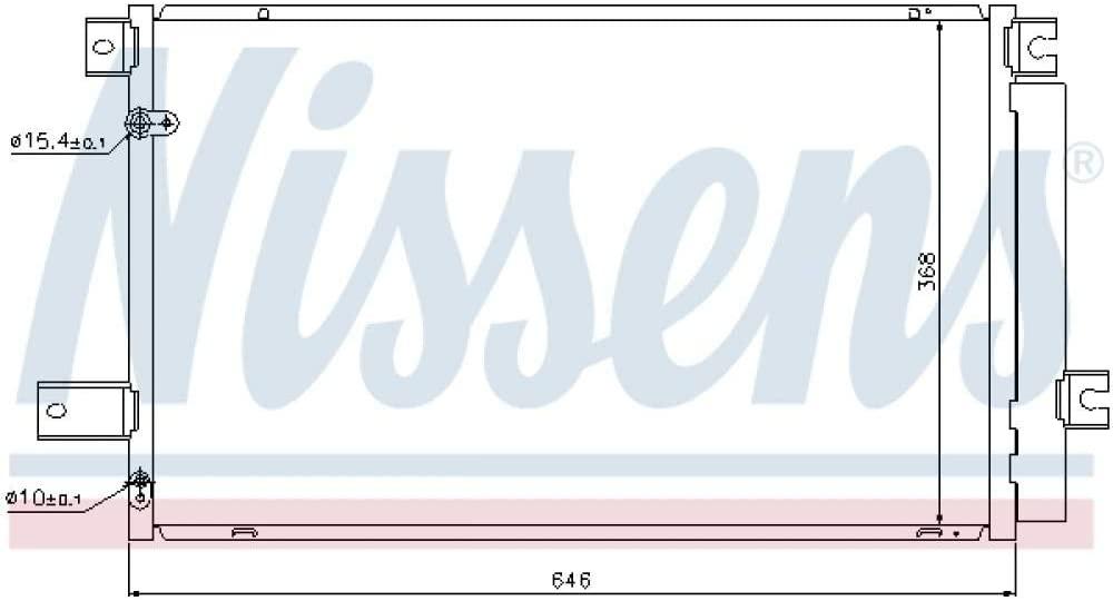 Nissens 940022 Condenser, Air Conditioning