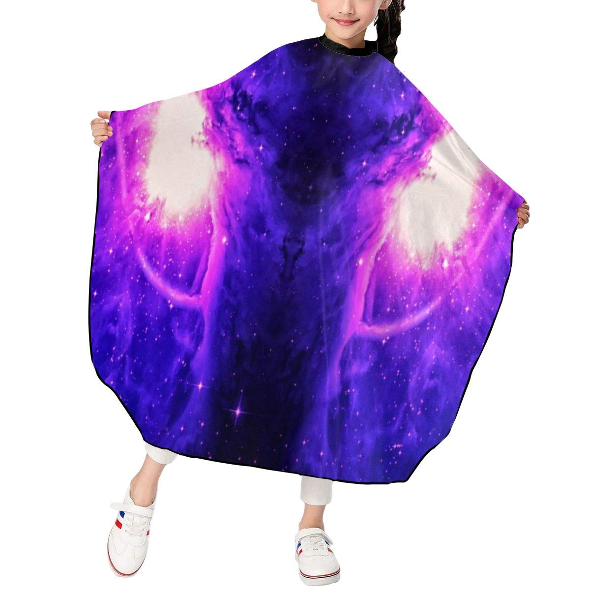 The Orion Nebula Kids Barber Cape Professional Home Salon Waterproof Hair Cut Hairdressing Gown Styling Cloak for Child/Boys/Girls