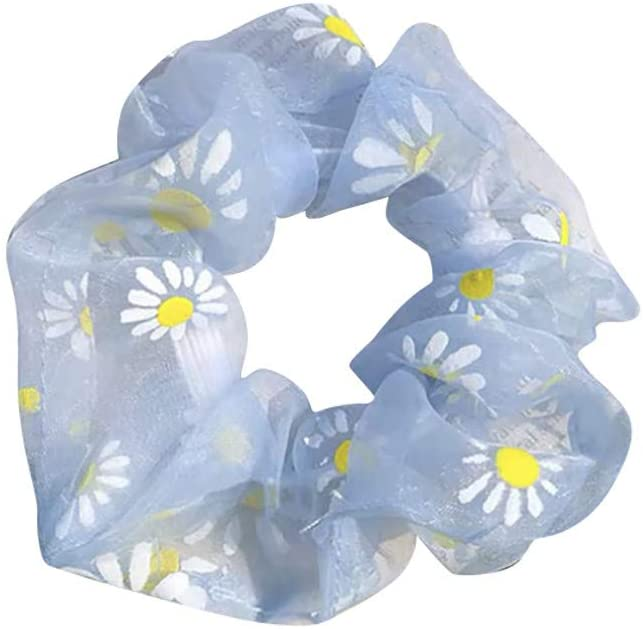 Fashion Fabric Flowers Hairband Women Hair Ring Head Hoop Girls Headband, Headband, Clothing Shoes & Accessories (Blue)