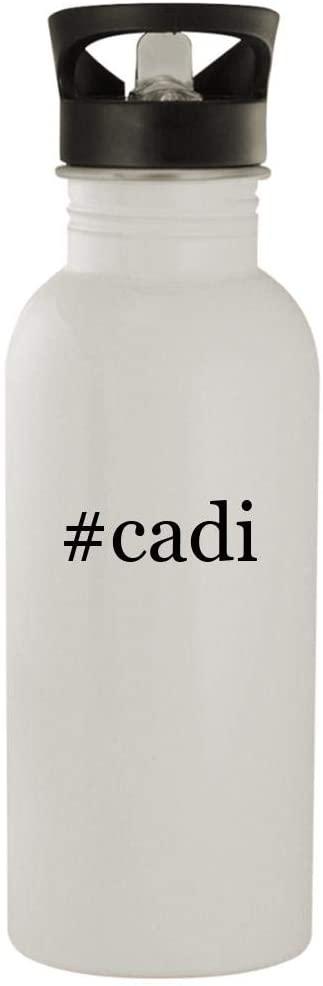 #cadi - 20oz Stainless Steel Water Bottle, White