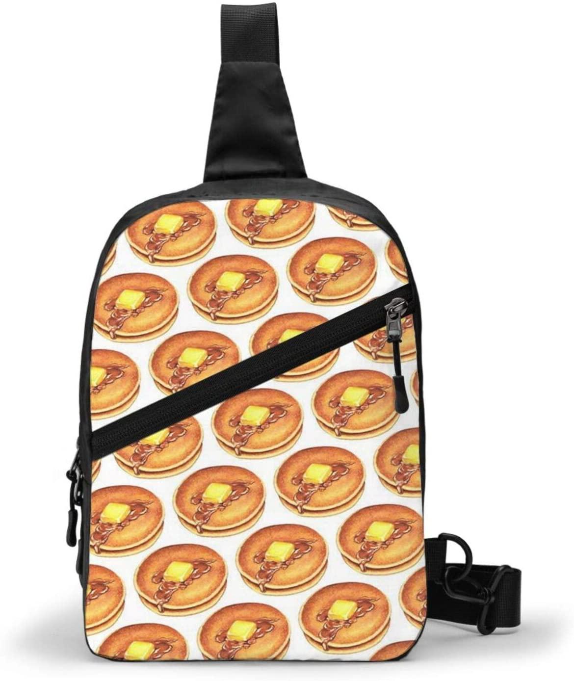 Neddelo Pancake Crossbody Bag,Portable Chest Bags,Folding Chest Bag, Men's and Women Sling Bag for Travel,Hiking, Cycling,Camping