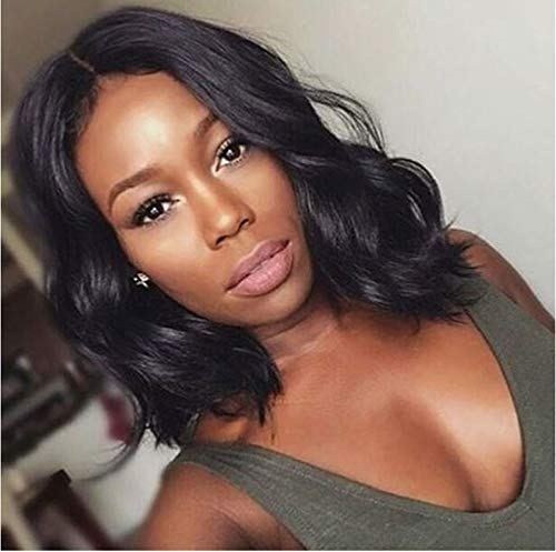 Naseily Short Curly Bob Wig Synthetic Wigs for Black Women African American Women Wigs Bob Hairstyles for Women
