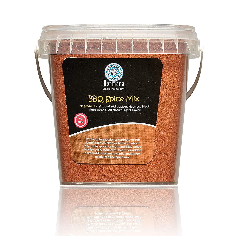 BBQ Rub Pure Spice Seasoning Herb Mix All Natural Premium Mediterranean Blends No Preservatives No MSG by Marmara 8 ounce