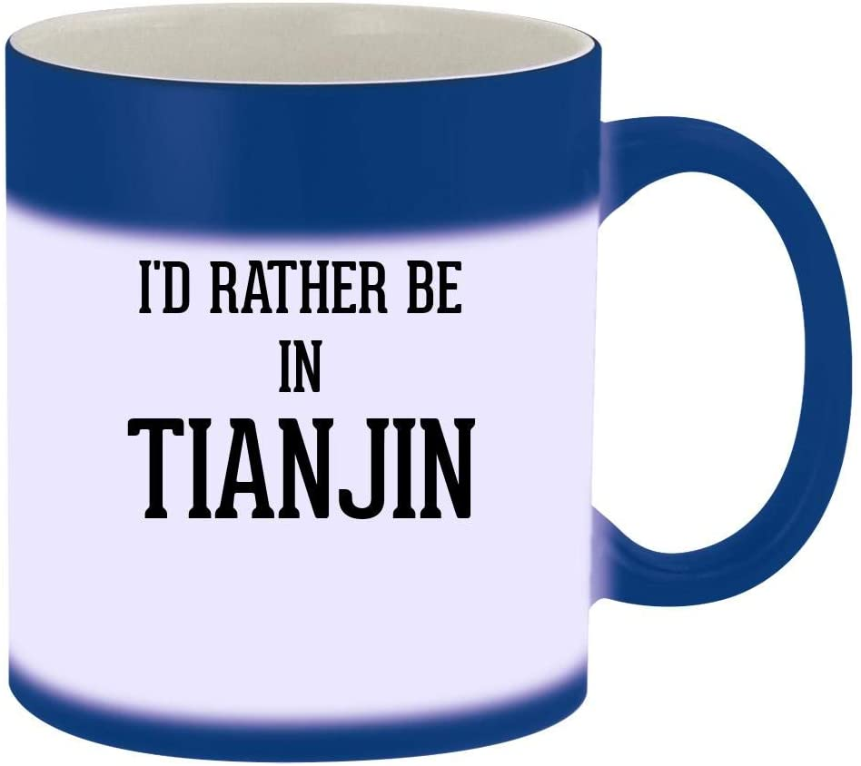 I'd Rather Be In TIANJIN - 11oz Magic Color Changing Mug, Blue