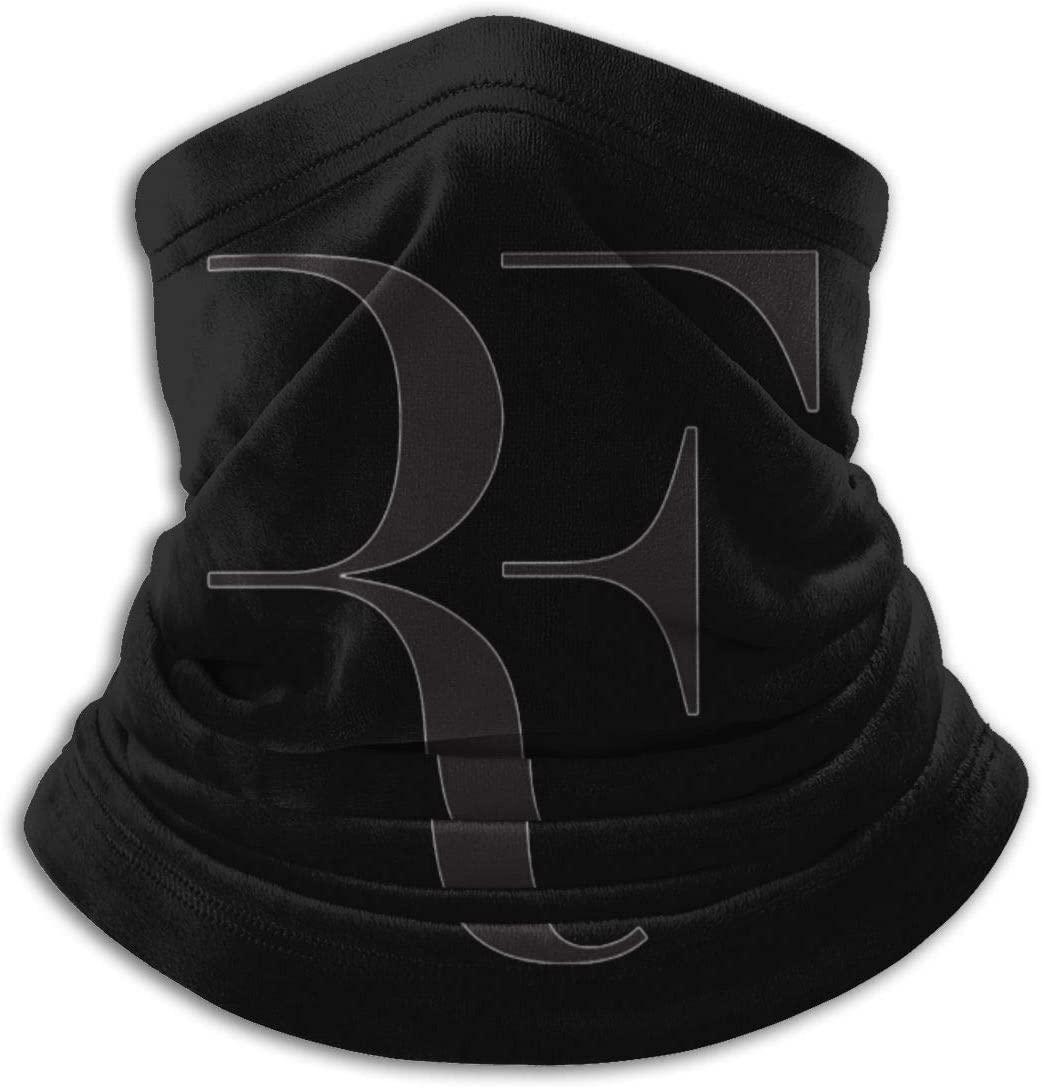 DamaYong Roger Federer Logo Microfiber Neck Warmer Scarf Soft Elastic Men Women Fleece Face Bandana Cover for Skiing Winter Sports