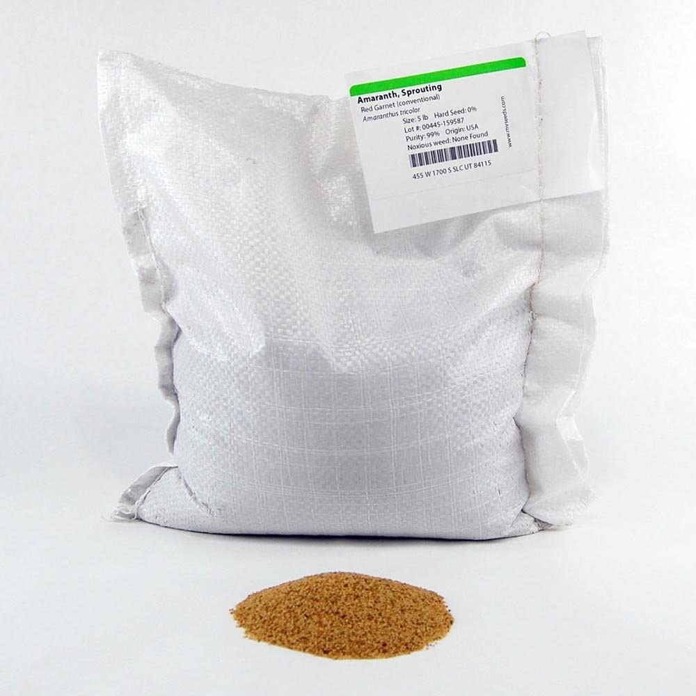 Red Garnet Amaranth Microgreens Seeds - Bulk Seed for Growing Micros, Indoor Gardening, Micro Greens Salad (25 Lb)
