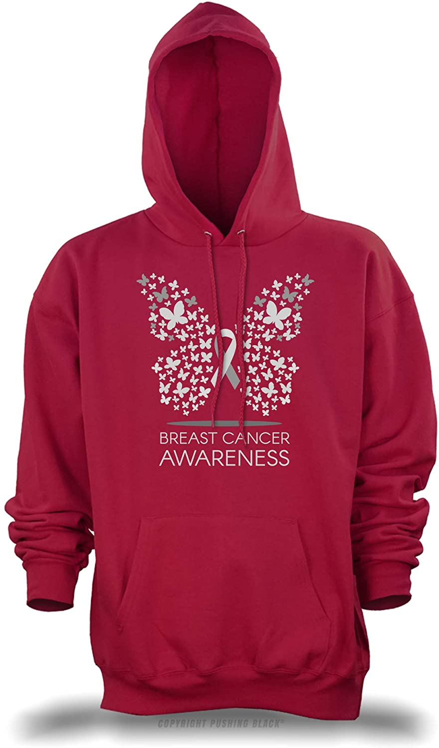 'Breast Cancer Awareness Butterfly' Unisex Pullover Hoodie