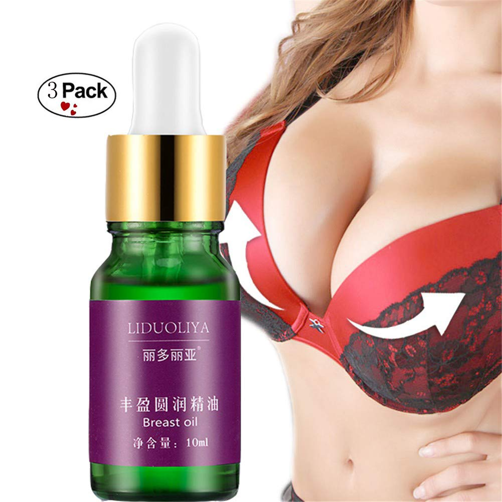 Breast Enlargement Essential Oil Firming Enhancement Cream Safe Fast Big Bust By Shouhengda (3 Bottle Pack)