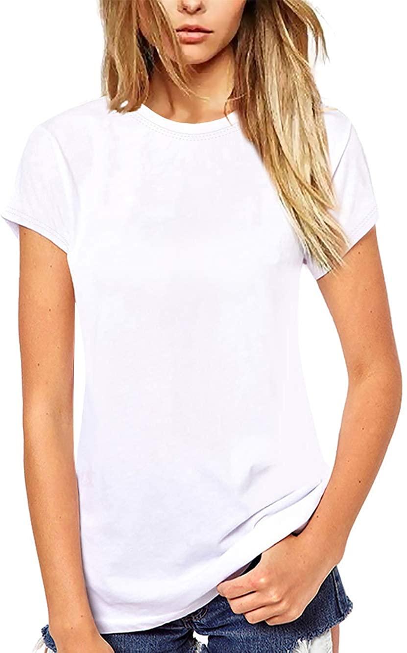 Beluring Women T Shirt Short Sleeve Crew Neck Tee Summer Tops Blouse
