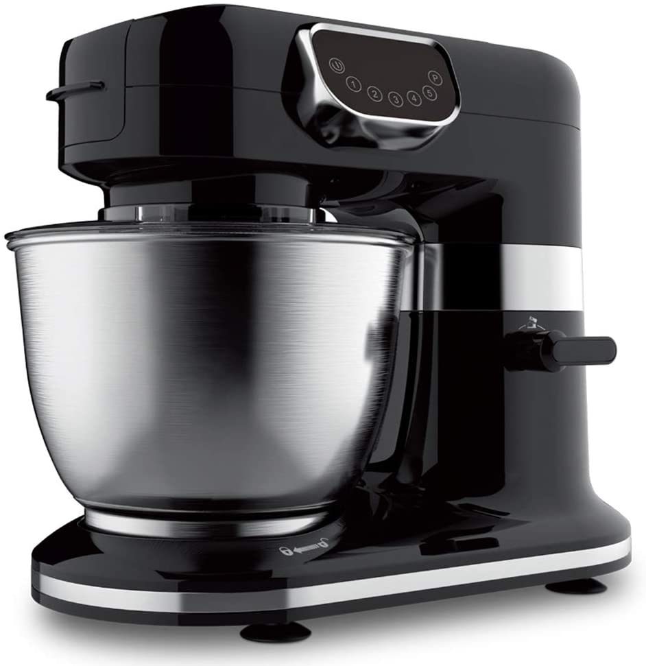 Stand Mixer, 5 Speeds Electric Mixer 3 in 1 Hand Mixer with 5.5L Stainless Steel Mixing Bowl, Beaters & Dough Hooks