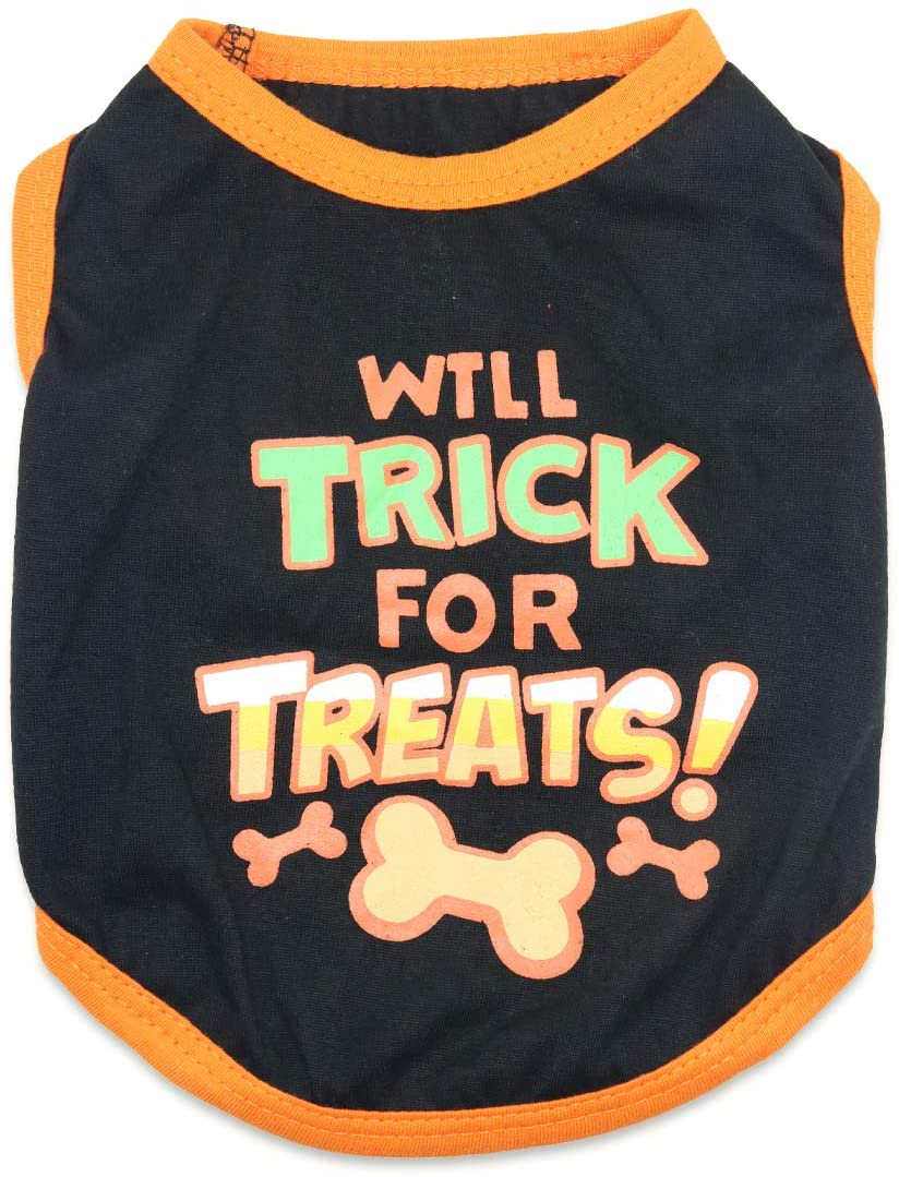 DroolingDog Small Dog Halloween Shirts for Small Dogs