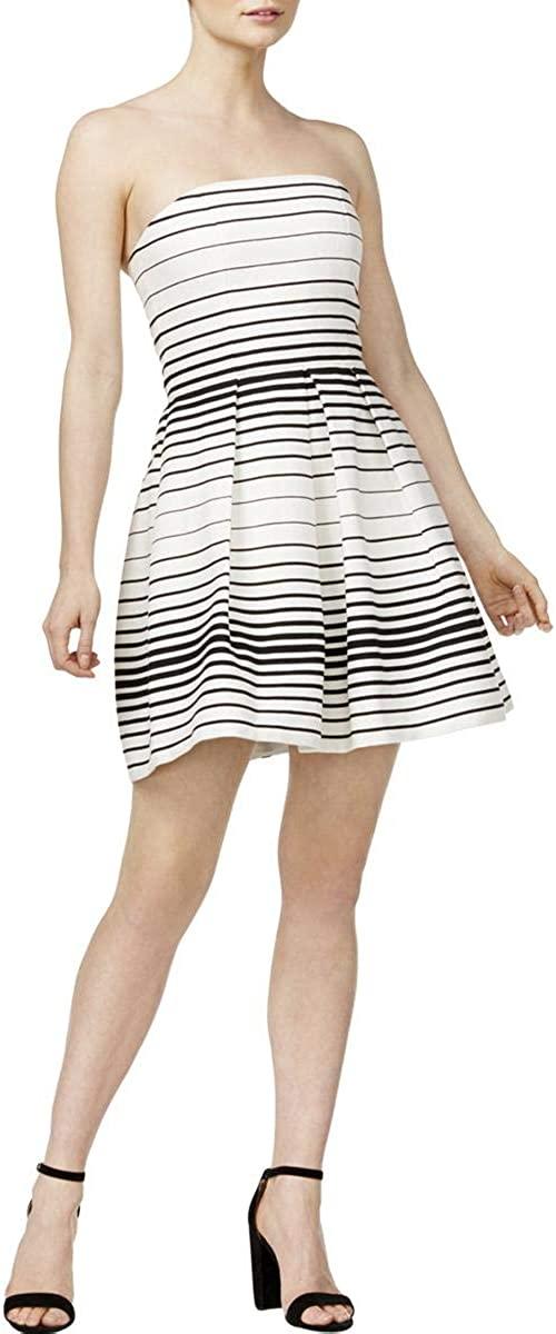 Mare Mare Womens Lazio Striped Strapless Dress