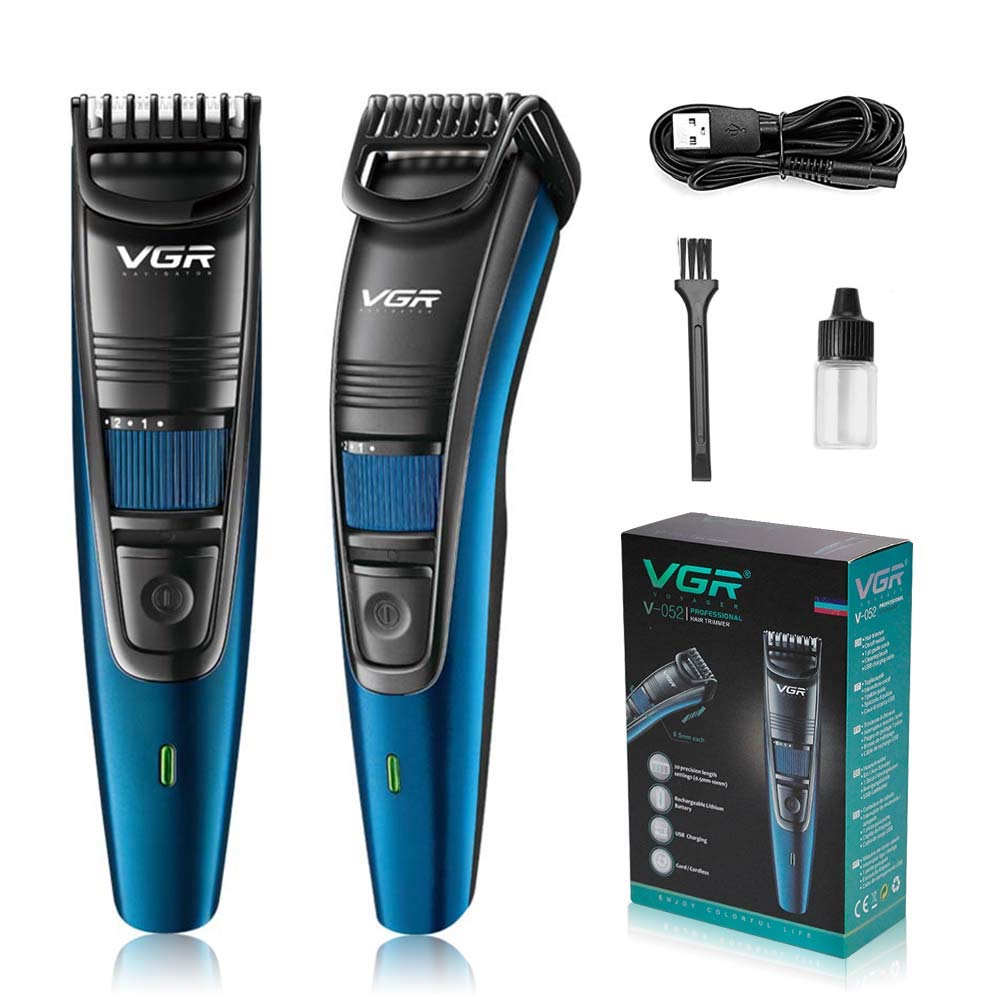 Adjustable Beard Trimmer Cordless with 20-Precision Length 0.5mm-10mm USB Charging with Li-ion Battery Professional Beard Trimmer for Men