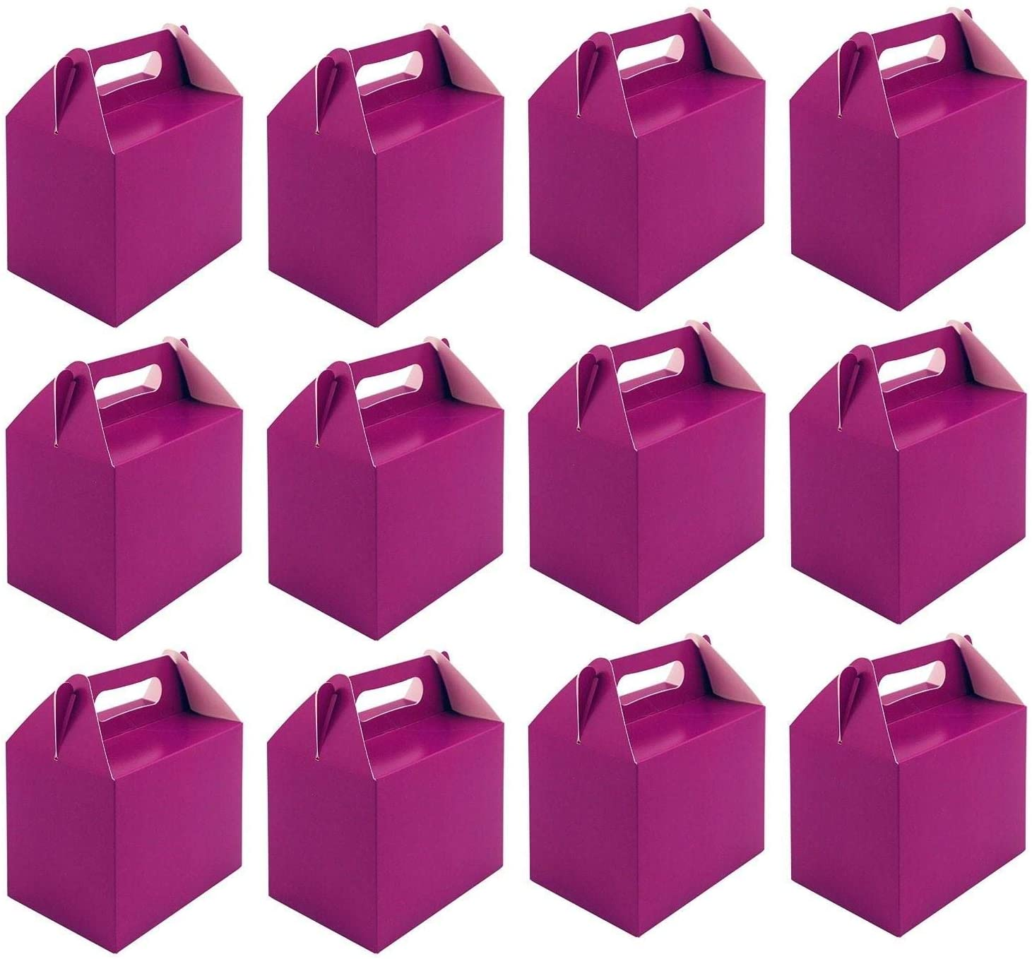 Shatchi 20Pk Purple Childrens Lunch Takeaway Birthday Wedding Cake Meal Food Boxes Party Bags Bulk
