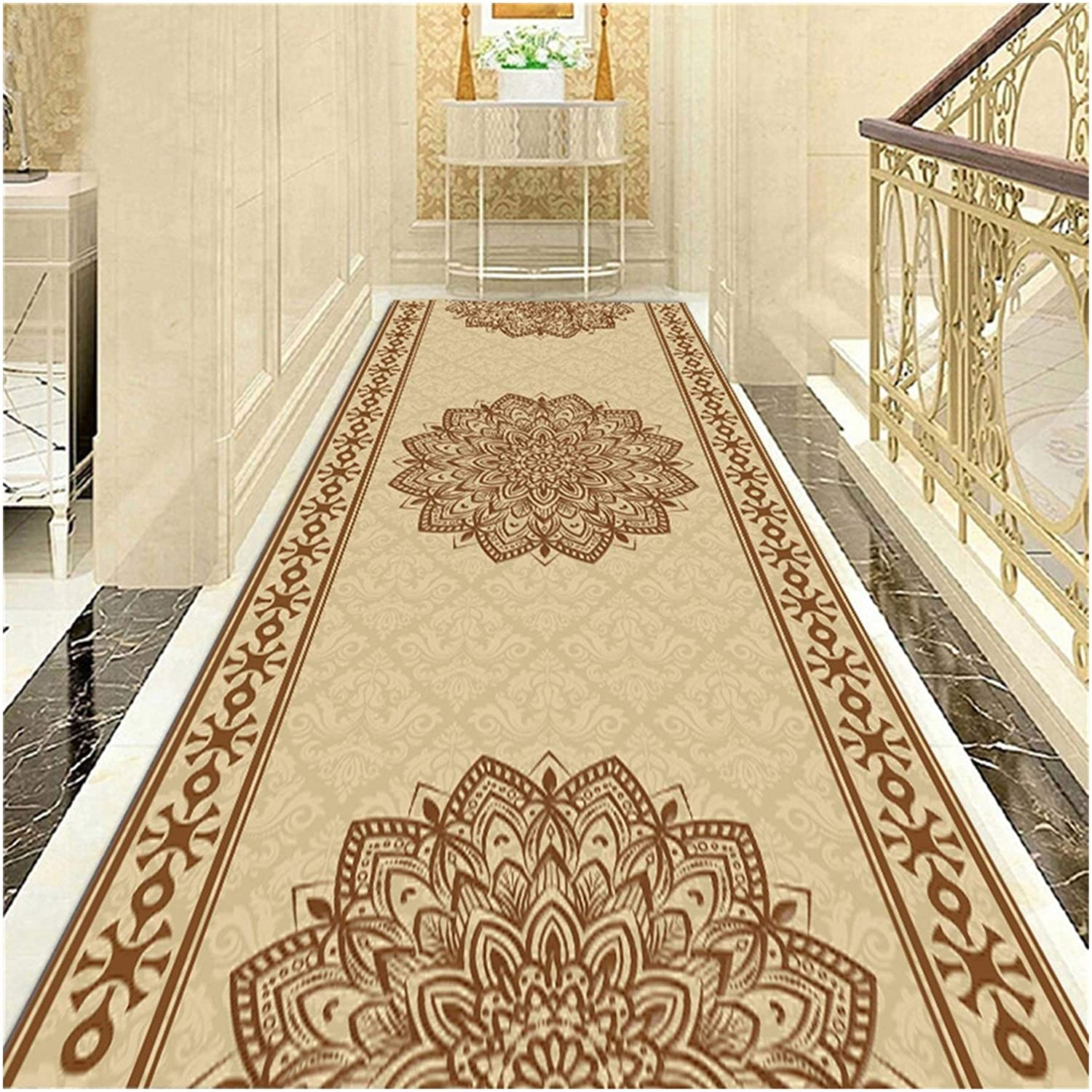 LXHONG Protective Corridor Carpets, Durable Foyer Floor Mats, Noise Reduction Walkway Blanket for Balcony Study Blended, 44 Sizes (Color : Multi-Colored, Size : 120x450cm)