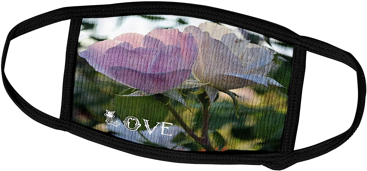 3dRose Love Pink Roses Floral Art Flowers Flower Photography - Face Covers (fc_30450_2)