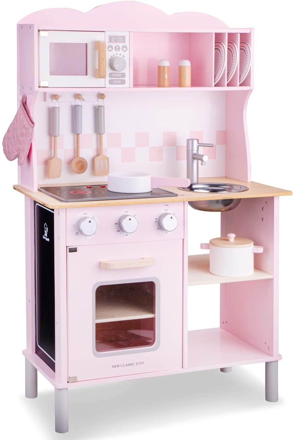 New Classic Toys 11067 Kitchenette-Modern-Electric Cooking-Pink