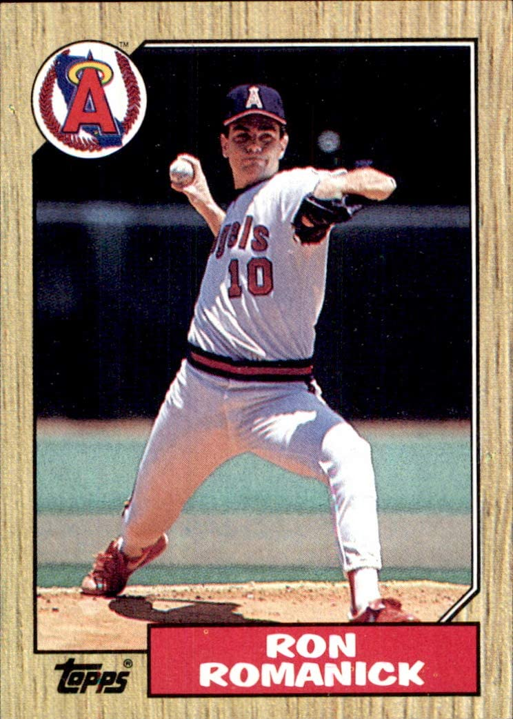 1987 Topps #136 Ron Romanick CALIFORNIA ANGELS