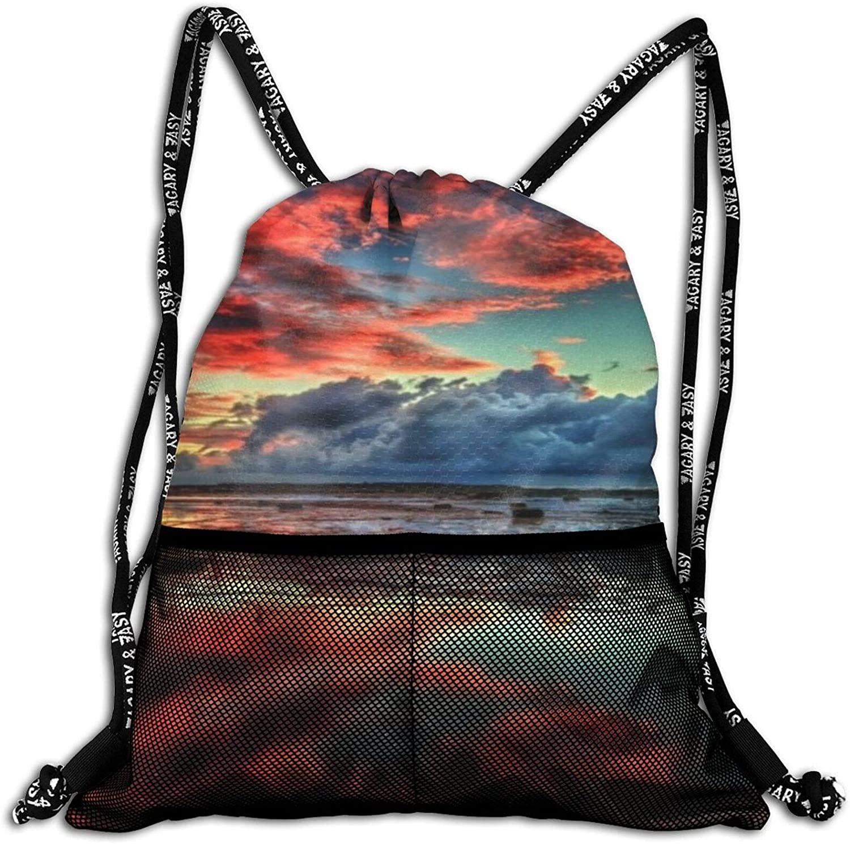 Neddelo Amazing Nature Drawstring Backpack String Bag Sackpack, Sport Gym Sackpack with Mesh Pockets, Makeup Bag for Party Gym Sport Trip