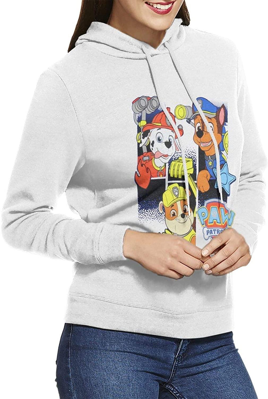 Women's Paw Patrol Super Soft Casual Pullover Hooded Sweatshirt.