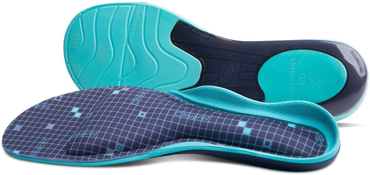 BLUPRINT™ CLOUD IMPRINT™ HD CUSTOM INSOLE Personalized Arch Support and Custom Fit Within Minutes - Alleviate Foot, Arch and Heel Pain Including Symptoms of Plantar Fasciitis - MENS 11-11.5