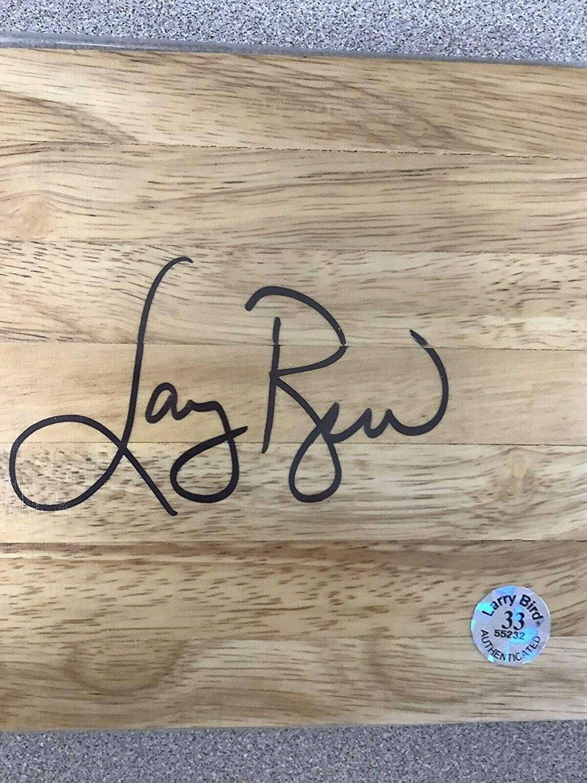 Larry Bird Signed Floor Board Basketball Court Celtics Autograph Beckett 33 Holo - Autographed NBA Floor Boards