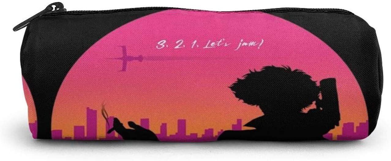 Cowboy Bebop Leather Pencil Case Cosmetic Case and Travel Pouch for Office and Back to School