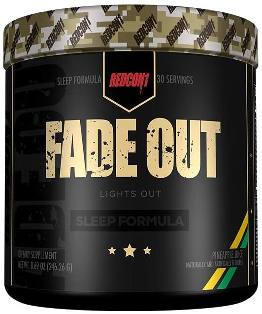 Redcon1 - Fade Out (Newly Formulated) 30 Servings, Sleep Formula, Melatonin, Chamomile (Pineapple Juice)