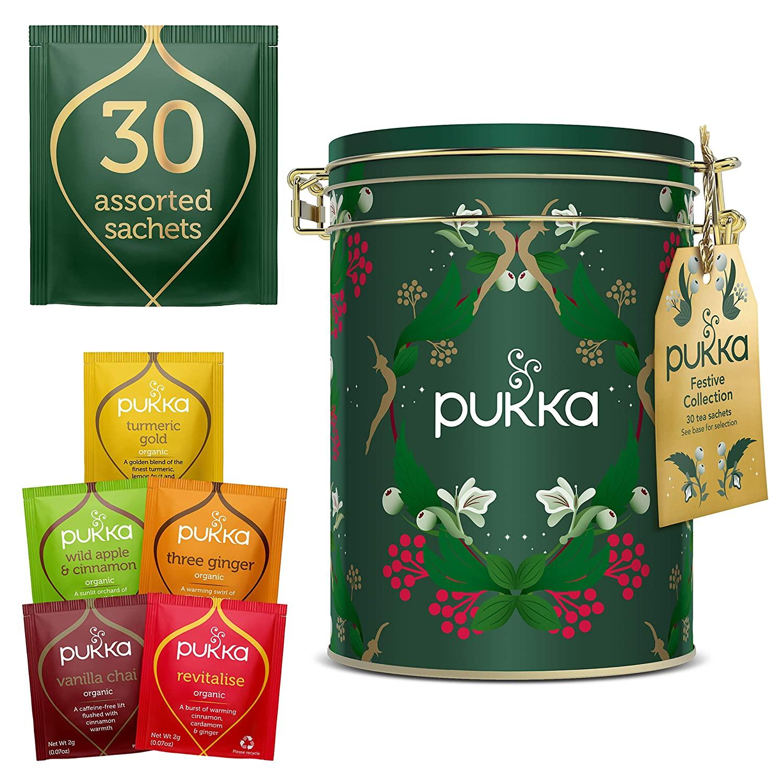 Pukka Herbs Organic Christmas Kilner Tea Tin 30 sachets