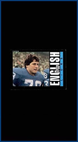 1985 Topps #58 Doug English DETROIT LIONS TEXAS LONGHORNS (ex-mt+)