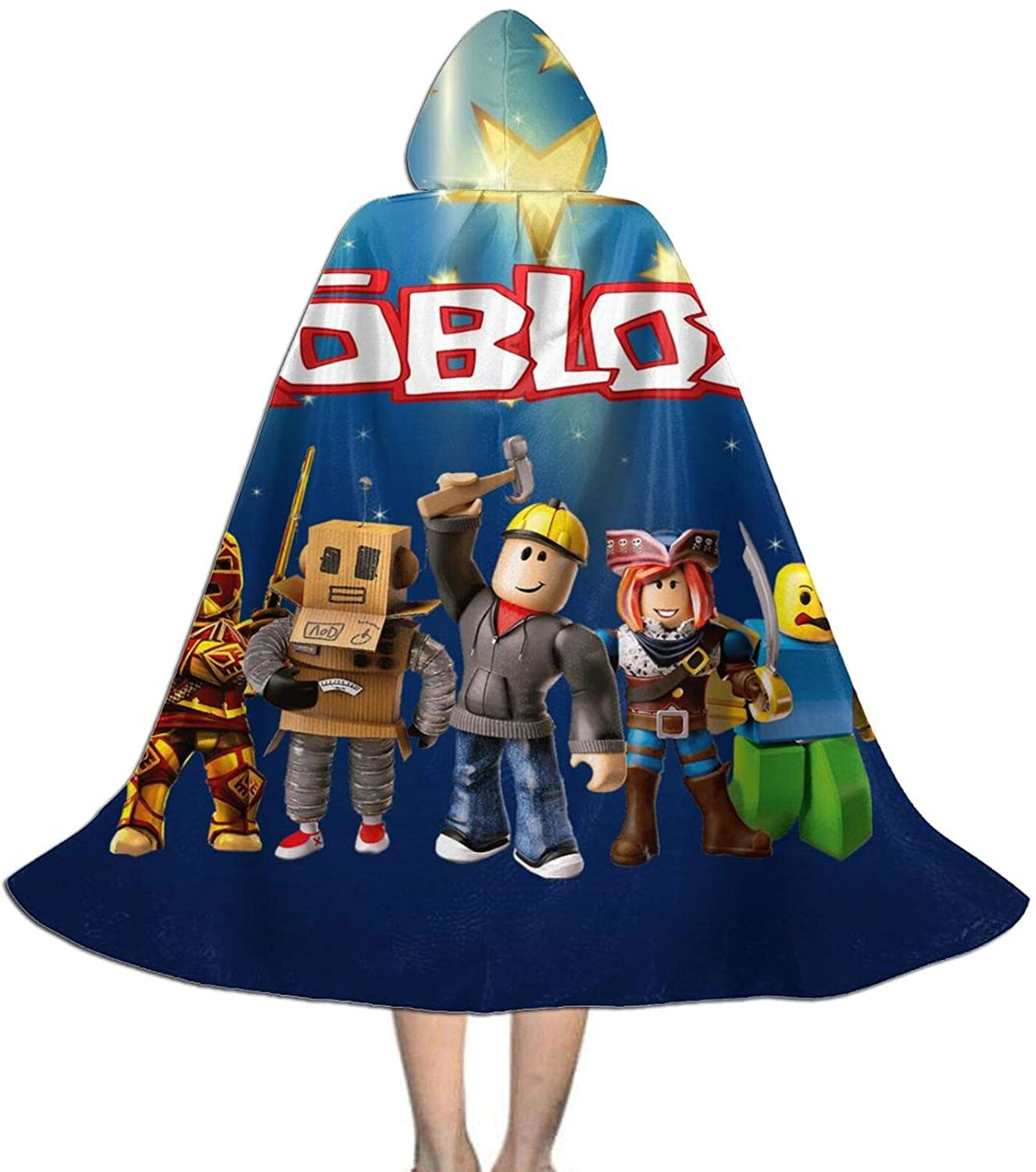 Terry B Dosxyaa Ro-Blox Kids Hooded Cloak Cape for Christmas Halloween Cosplay Costumes Ages 3 To16