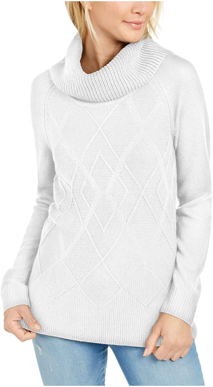 Tommy Hilfiger Womens Ivory Long Sleeve Cowl Neck Sweater Size XXL