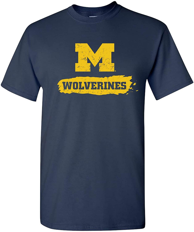 NCAA Paint Stroke Logo, Team Color T Shirt, College, University
