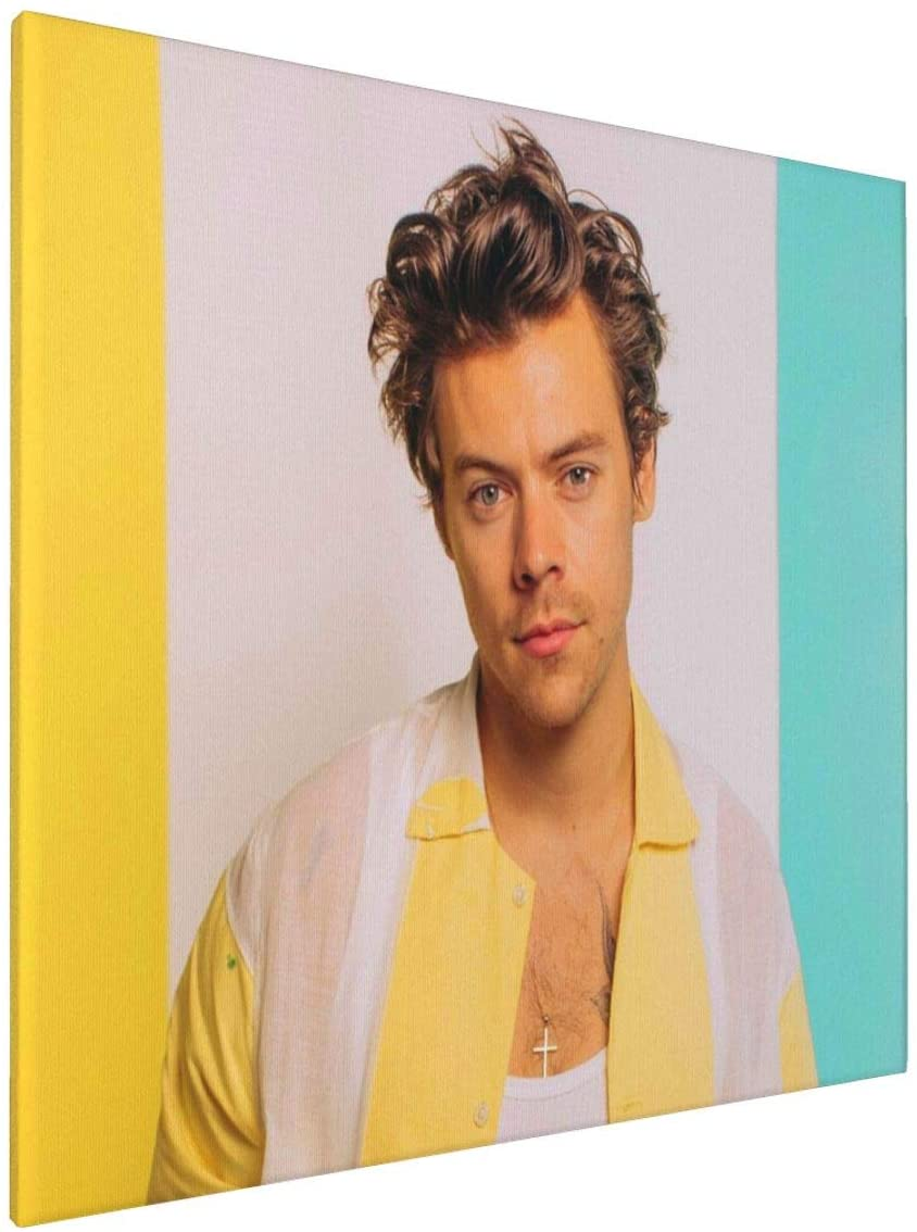 PIAOOU Harry-Styles Poster Abstract Retro Geometry Canvas Wall Art Paintings for Living Room Bedroom Bathroom Decoration Office Wall Decor Posters 16x16 Inch