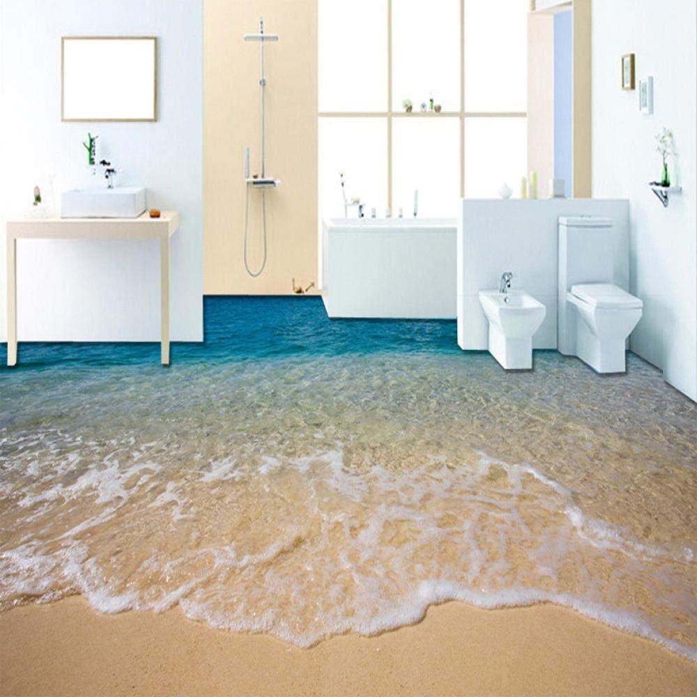 Custom Flooring Mural Wallpaper 3D Stereoscopic Beach Floor Sticker PVC Waterproof Self-Adhesive Non-Slip Wallpaper Home Decor 300X210cm