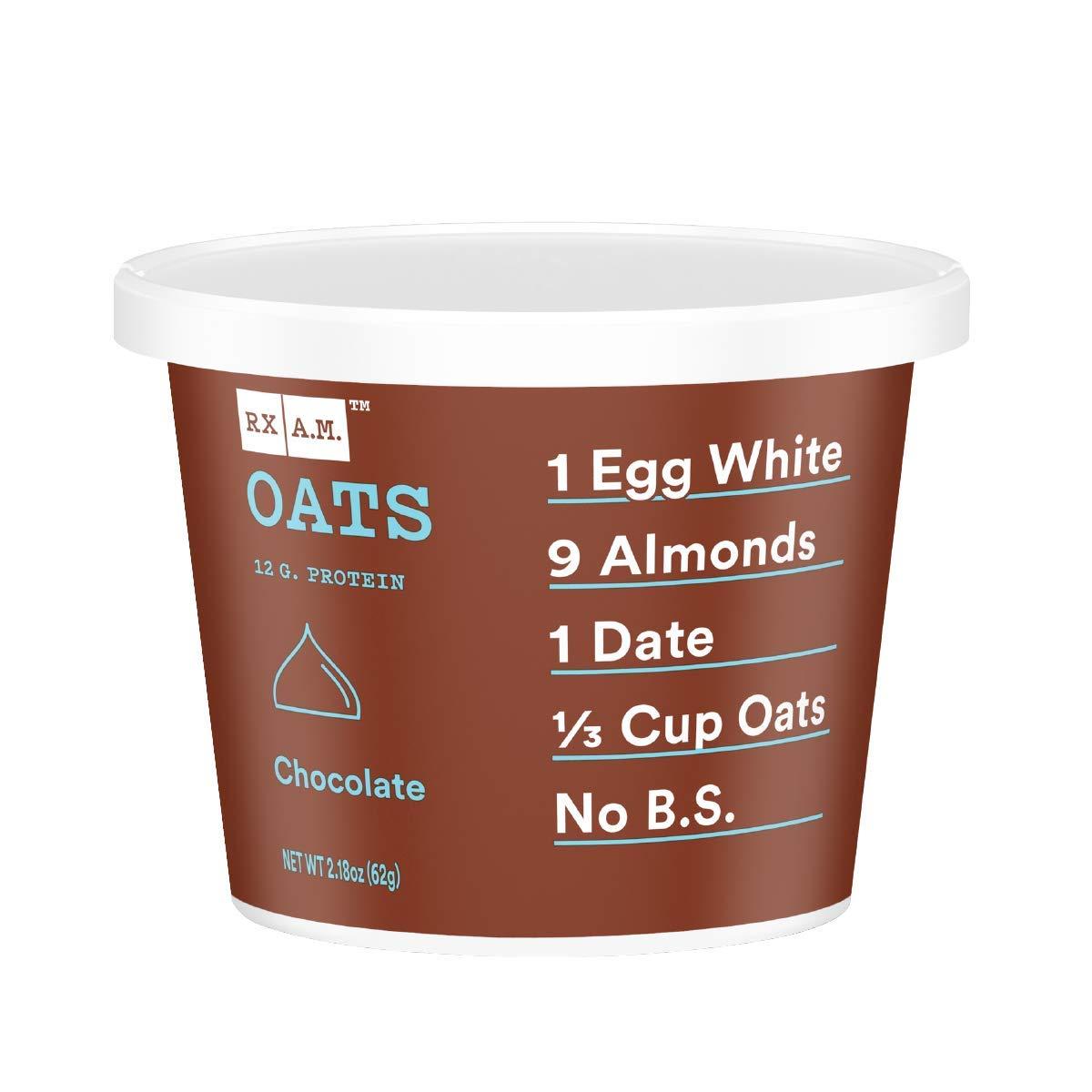 RXBAR, Rx A.M. Oats, Chocolate, 12ct, 2.18oz Cups, 12 Gluten Free Oatmeal Cups
