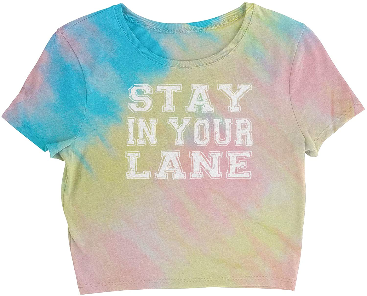 Expression Tees Stay in Your Lane Womens Cropped T-Shirt