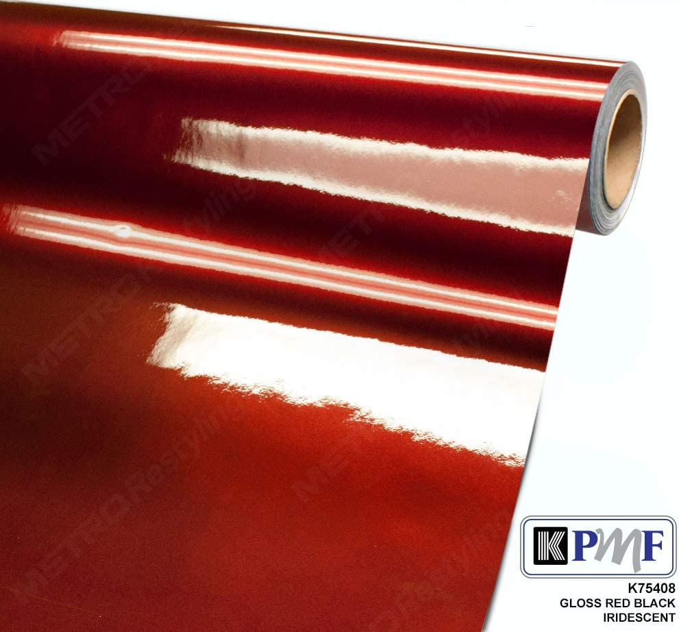 KPMF K75408 Gloss RED Black Iridescent 5ft x 75ft (375 sq/ft) Vinyl Car Wrap Film