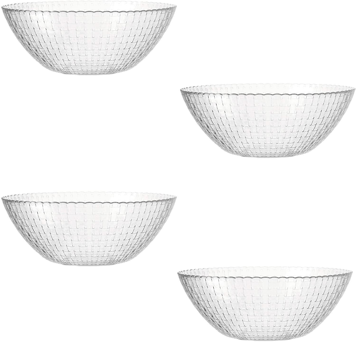 montana: eve 030284 Bowl, Set of 4, Bowl, Serving Bowl, Glass Bowl, Diameter 31 cm,