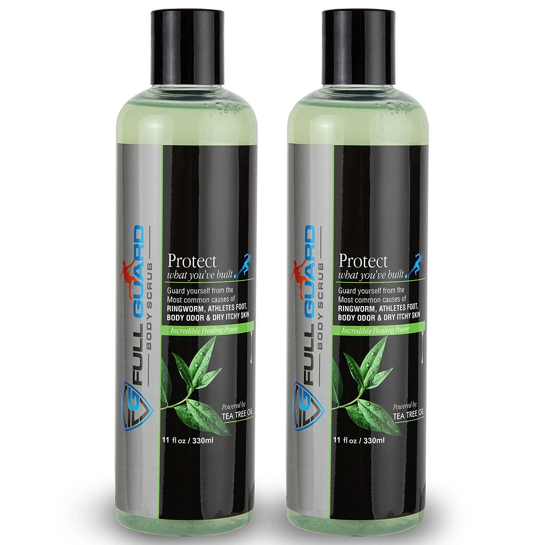 Full Guard Anti Fungal Body Scrub - Anti-Fungal Tea Tree Soap for Athletes Foot, Ringworm, Jock Itch, Body Odor, athlete body wash promotes healthy skin and feet